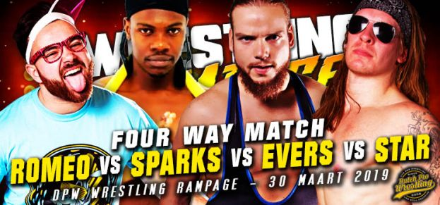 WRESTLING RAMPAGE - 4 WAY CLASH – RAMI VS SPARKS VS EVERS VS STAR!